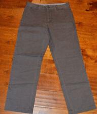 Men's St. John's Bay Iron Gray Authentic Chino Straight Fit Twill Pants 30,32,40