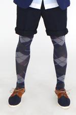 Adrian Grating Argyle Opaque Fashion Tights for MEN M-XXL