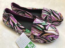 NWT! Sanuk Womens Palmtastic Purple Berry Multi Shoes Slip Ons Sz 6 7 8