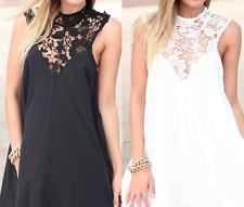 Choice 2 Colours Ivory/Cream or Black Chiffon Summer Bikini Cover Up Size 12-14