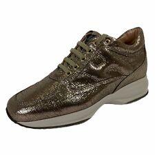 C07 sneakers donna HOGAN INTERACTIVE bronze brown metallic shoes women