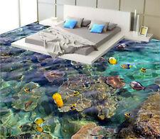 Sponge Fish Rock Tropical Ocean  Floor Decals 3D Wallpaper Wall Mural Stick