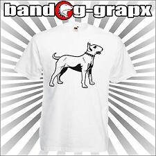 BULLTERRIER T-SHIRT - MAGLIETTA UOMO BIANCA - T-SHIRT CANI - DOG - ANIMAL
