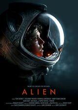 Alien 1979 Sigourney Weaver Stretched Canvas Art Movie Poster Film Print Sc-Fi