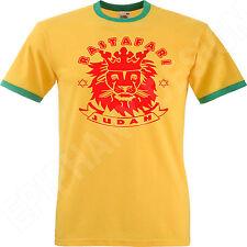 Lion Of Judah T Shirt Rasta Rastafari Reggae Jamaica Bob Marley Yellow Green