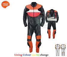 NEUF une pièce MOTO RACING COMBINAISON CUIR GRAND PRIX MOTO équitation costume
