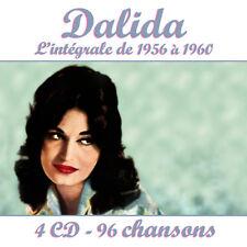 Coffret 4 CD Dalida : l'intégrale 1956-1960 / 96 Titres