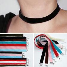 Kropfband * SAMT * Choker *FARBWAHL* schlichtes Halsband Samtband Trachten Kette