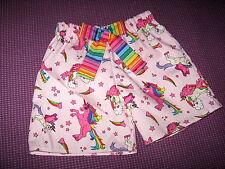 NEW Baby Girls Pink purple black rainbow unicorns Shorts Pants headband set Gift