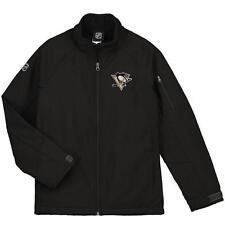 NWT Pittsburgh Penguins NHL Youth Black Transitional Softshell Jacket