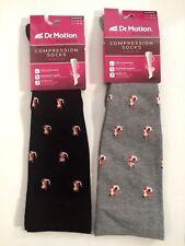 2 Pair Dr. Motion Mild Compression 8-15 mmHg Knee-Hi Women Socks
