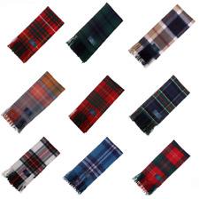 New Long Neck Fashion Tartan Scarf Scottish Wool Clan Scarves - Various Tartans