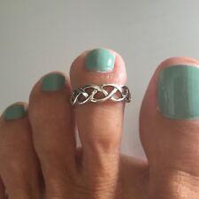 Ring, Silver Rings, Celtic Ring Sterling Silver Celtic Weave Toe