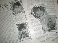 Article Famous Women opera singers 1900 Patti Melba Butt Sterling calve etc