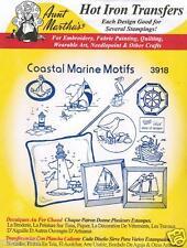 Coastal Marine & Lighthouse Aunt Martha's Hot Iron Embroidery Transfer #3918