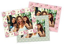 "Shot2go magnetic photo fridge frames vintage flowers 4x6"" 3 pack  2541"