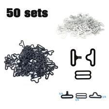 50 sets Bow Tie Hardware Clip Metal Cravat Clip Hook Fastener for Necktie Strap