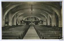 Real Photo Postcard RPPC St Joseph Church Oratoire Interior Montreal Canada