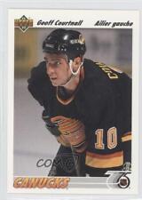 1991-92 Upper Deck French #467 Geoff Courtnall Vancouver Canucks Hockey Card