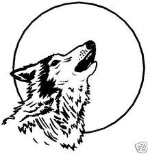 Wolf Aufkleber Sticker Auto  Indianer m356