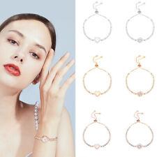 Women Slim Crystal Bracelet Bangle Valentine's Day Wedding Bridal Jewelry XI