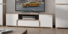 Lowboard TV Unterschrank 2-türig 164cm eiche nelson / weiß Hochglanz Neu (M16)