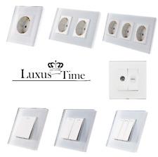 enchufes Conector Luz Pared Interruptor de cambio Marco cristal lux4099 blanco