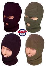 Mens Balaclava Army Military 3 Hole Full Face Hat Black Green Surplus SAS New