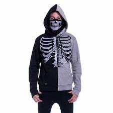 Heartless Fracture Hood Mens Black Grey Goth Emo Punk