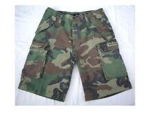 Uomo Army Woodland Camouflage Combat Pantaloncini Cotone-Tutte le Taglie Pantaloni Militari