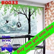 B0033 Reusable Huge 2.2x1.9m Tree Bird Wall Decal Sticker Poster Room Home decor