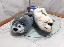 New As Seen On TV FLIPAZOO Kid Slippers WOLF/POLAR BEAR SMALL or Medium NWT