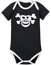 SCHNULLERPIRAT Ringer Body BIO-Baumwolle, schwarz-weiß von Racker´n´Roll