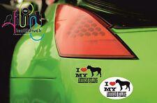 DA 135 - I love my American Bulldog Hund Dog Aufkleber Autoaufkleber KFZ Sticker