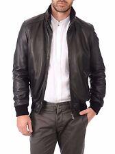 US Men Leather Jacket Hommes veste cuir Herren Lederjacke chaqueta de cuero R79b