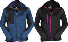 giacca soft shell impermeabile traspirante termica donna con cappuccio S - XL