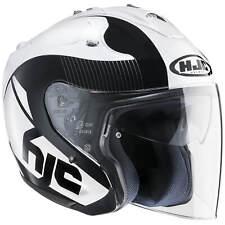 hjc fg-jet acadia moto Casque jet - Blanc Noir