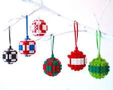 Lego ornement arbre de noël faite avec briques lego babiole décoration vacances