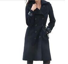 Women's Winter Lambswool blend Black long trench coat jacket Churuch plus 2X 3X