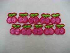 Piccola ciliegia ricamato Sew IN FERRO SU ABITI ADESIVO BADGE Ragazze Bag Patch