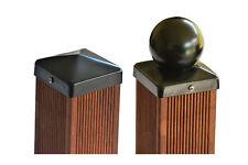 Pfostenkappen schwarz beschichtet Pyramide oder Kugel  7x7  9x9  10x10  12x12 cm
