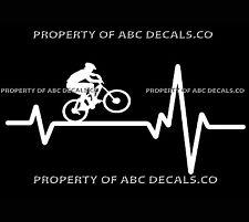 VRS Heart Beat Line Cycling Mountain Bike Frame Male Helmet CAR VINYL DECAL