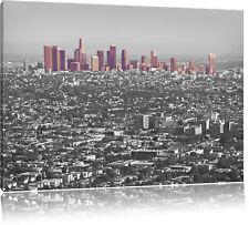 Los Angeles Metropolitan Area schwarz/weiß Leinwandbild Wanddeko Kunstdruck