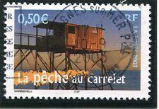 TIMBRE FRANCE OBLITERE N° 3560 LA PECHE AU CARRELET / PHOTO NON CONTRACTUELLE