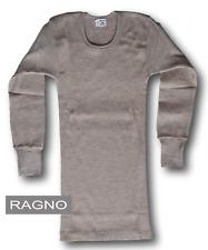 RAGNO Camiseta,Camiseta íntimo Manga Larga,cuello redondo,Hombre 100% Pura Lana