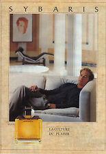 PUBLICITE ADVERTISING   1988   SYBARIS  parfum eau de toilette