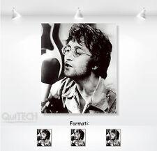 John Lennon - 8 - Quadro stampa su Tela Pelle Canvas Dipinto Arte Moderna