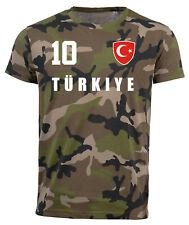 Türkei Türkiye Camouflage T-Shirt WM 2018 Trikot Style Fußball Nummer ALL 10