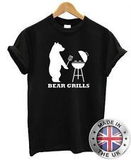 Gracioso para hombres Camiseta Oso Parrillas
