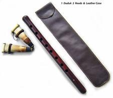 PRO DUDUK Armenian w/2 Reed LEATHER Case Apricot Wood - Zurna Mey Ney Oboe Flute
